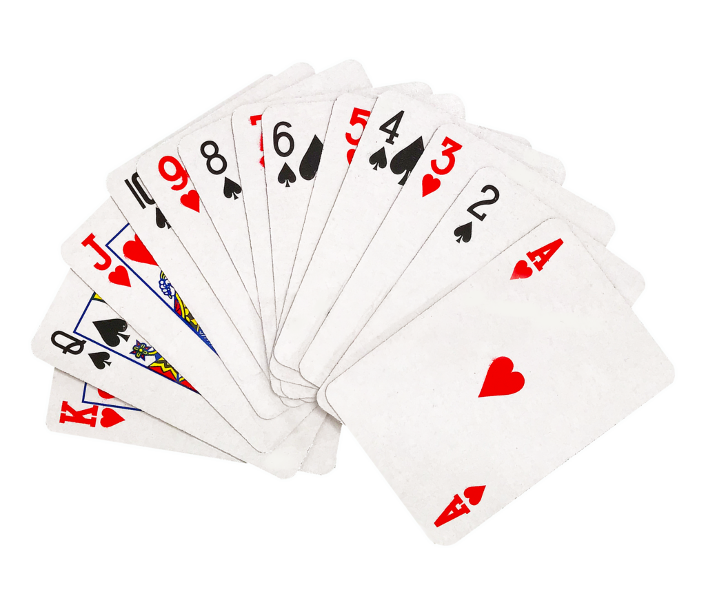 Fanned playing cards png. Mini leading edge novelty