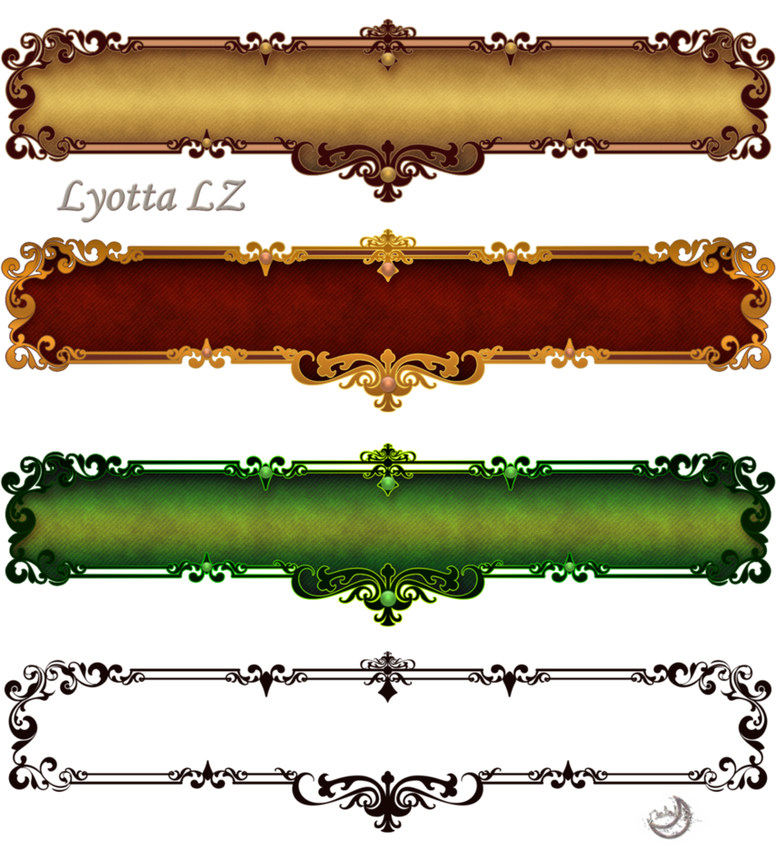 Fantasy border png. Borders labels by lyotta