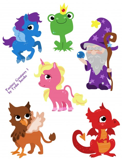 Fantasy clipart. Creatures free stock photo