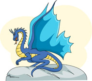 Fantasy clipart dragon. Free clip art pictures