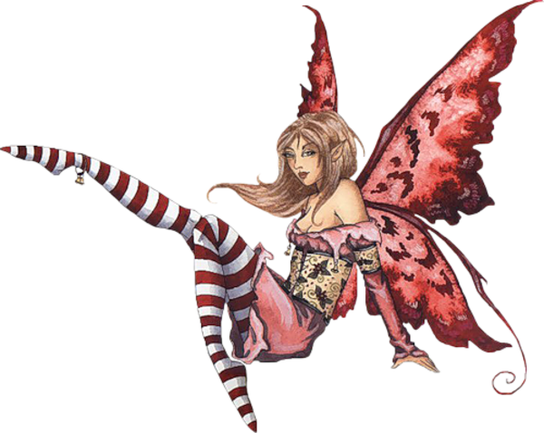 Fantasy clipart transparent. Fairy socks sitting red