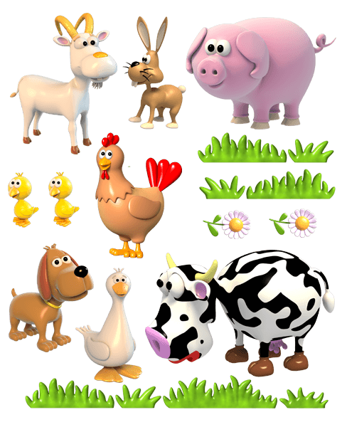 Farm animal png. Hd for kids transparent