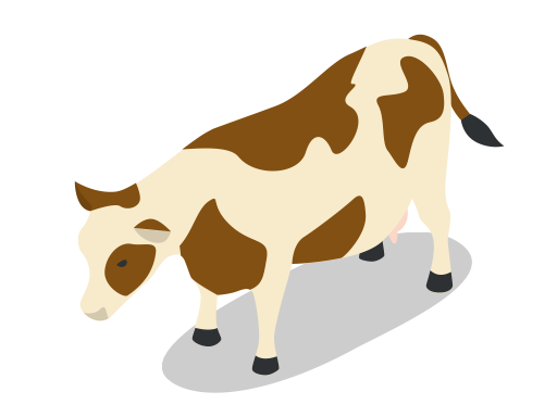 Farm animal png. Cow animals rural icon