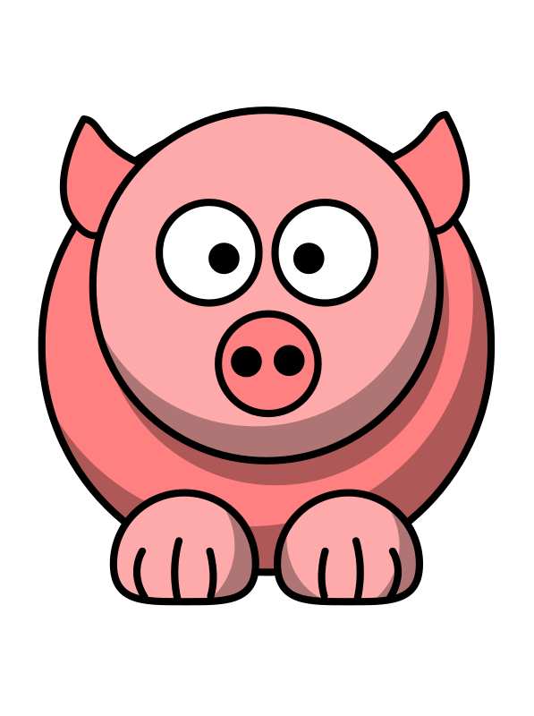 Farm animals cartoon png. Clipart pig medium image