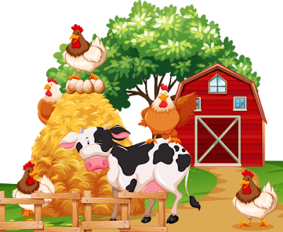 Farm animals cartoon png. Animal images farmyard