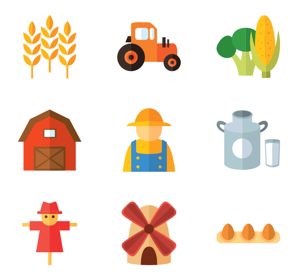 Product vector agriculture. Farm icon packs