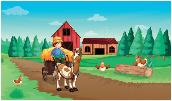Farm clipart. With a farmer and