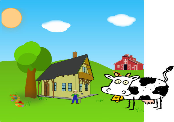 Farmhouse clipart background. Farm clip art at