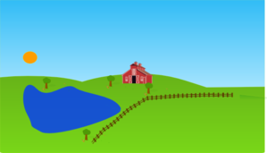 Farm clipart background. With lake clip art