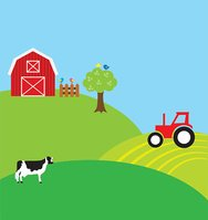 Farm clipart background. Stock vectors me