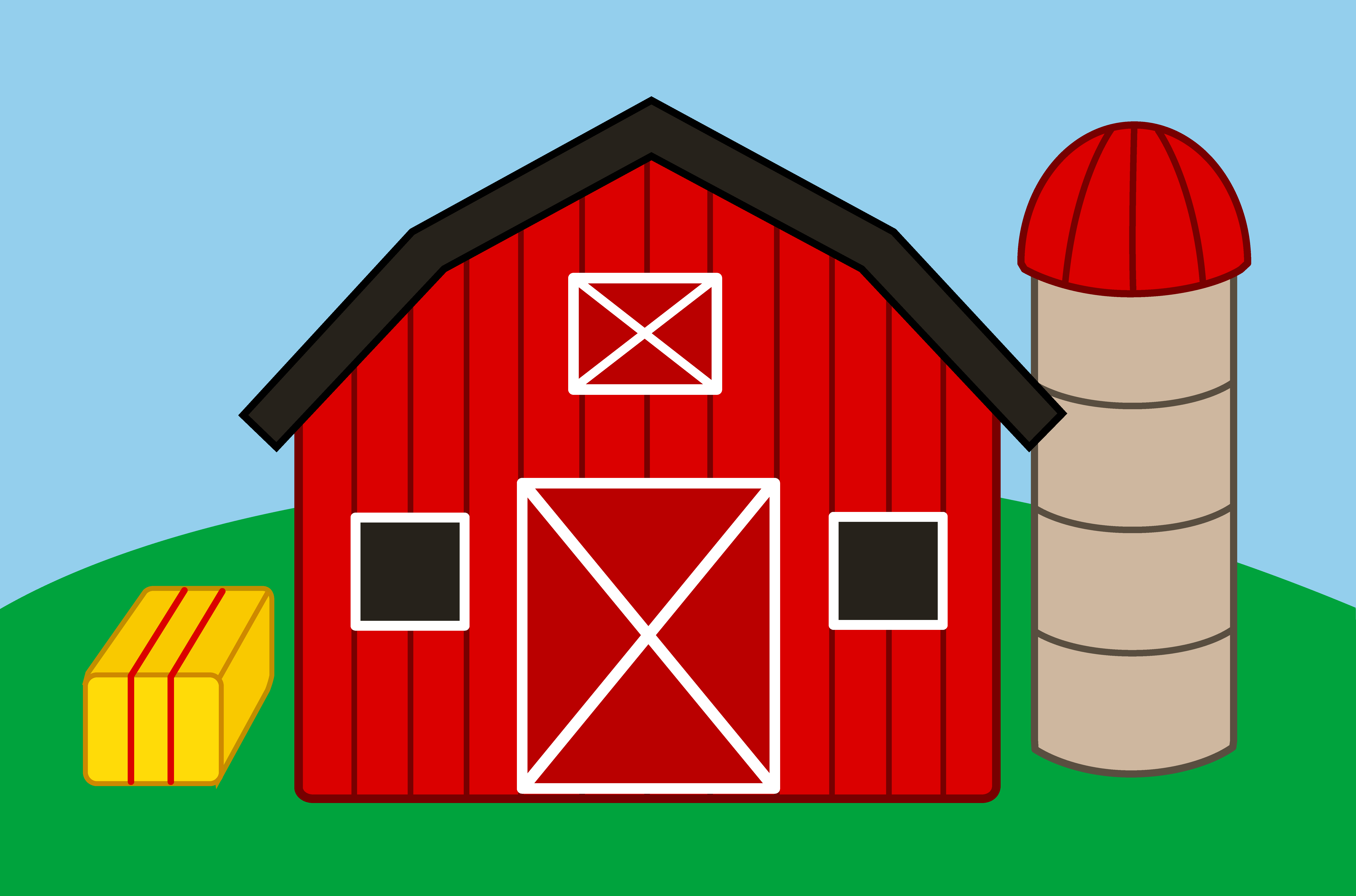 Farm clipart cartoon. House