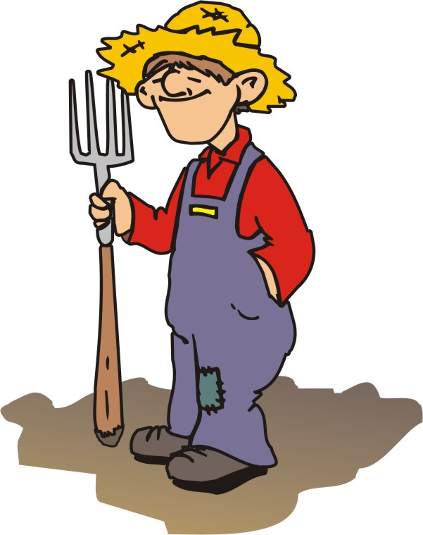 Farm clipart cartoon. Farmer drawing at getdrawings