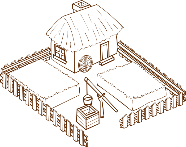 Farm clipart outline. Clip art at clker