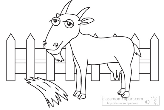 Farm clipart outline. Animals animal goat black
