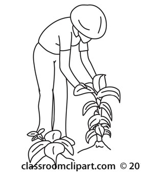 Farm clipart outline. Plants farmer checking classroom