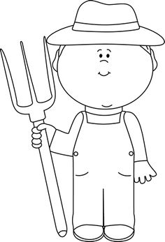 farmers clipart outline