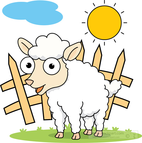 Farm clipart sheep. Animals big eyed white