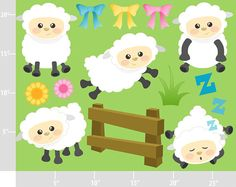 Farm clipart sheep. Animals farmer cute digital
