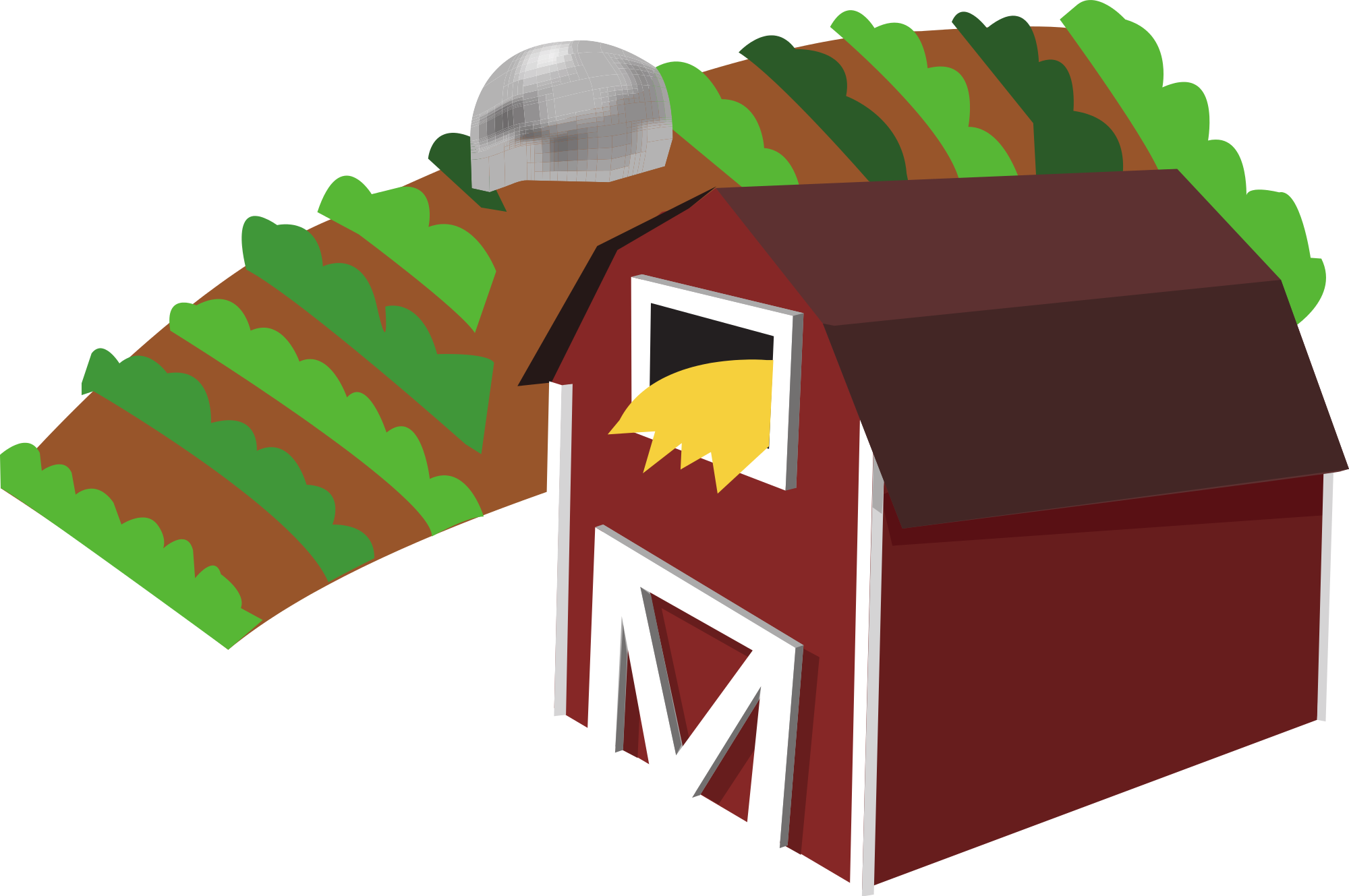 Farm transparent. Barn clipart pencil and