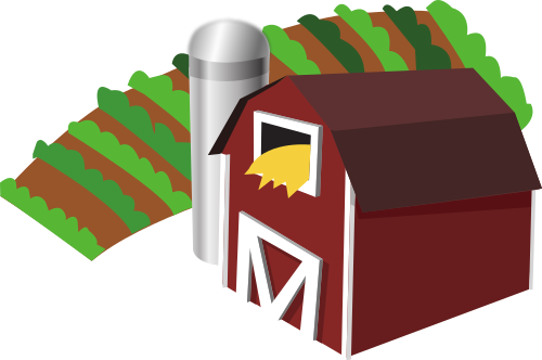 Farm transparent barn. File with clip art