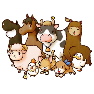 Farm transparent cute cartoon. Animal images funny on