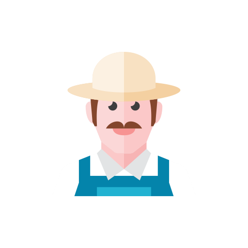 Farmer svg. Icon
