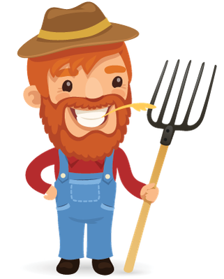 Farmers clipart worried. Cartoon characters set the