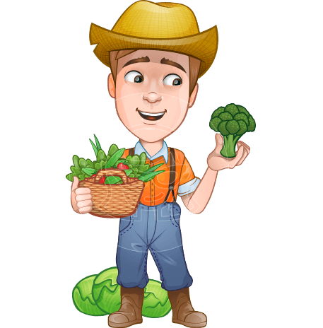 Farmer cartoon png. Farming group profession and
