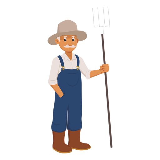 Farmer walking png. Old cartoon free svgs