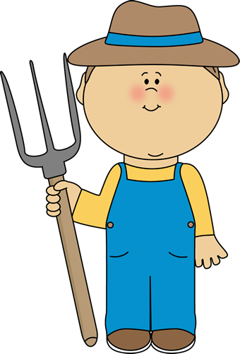 Farmer clipart. Cute