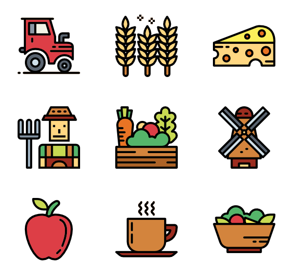 Farmer clipart agriculturist. Agriculture icons free vector