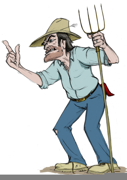 Farmer clipart angry. Free images at clker