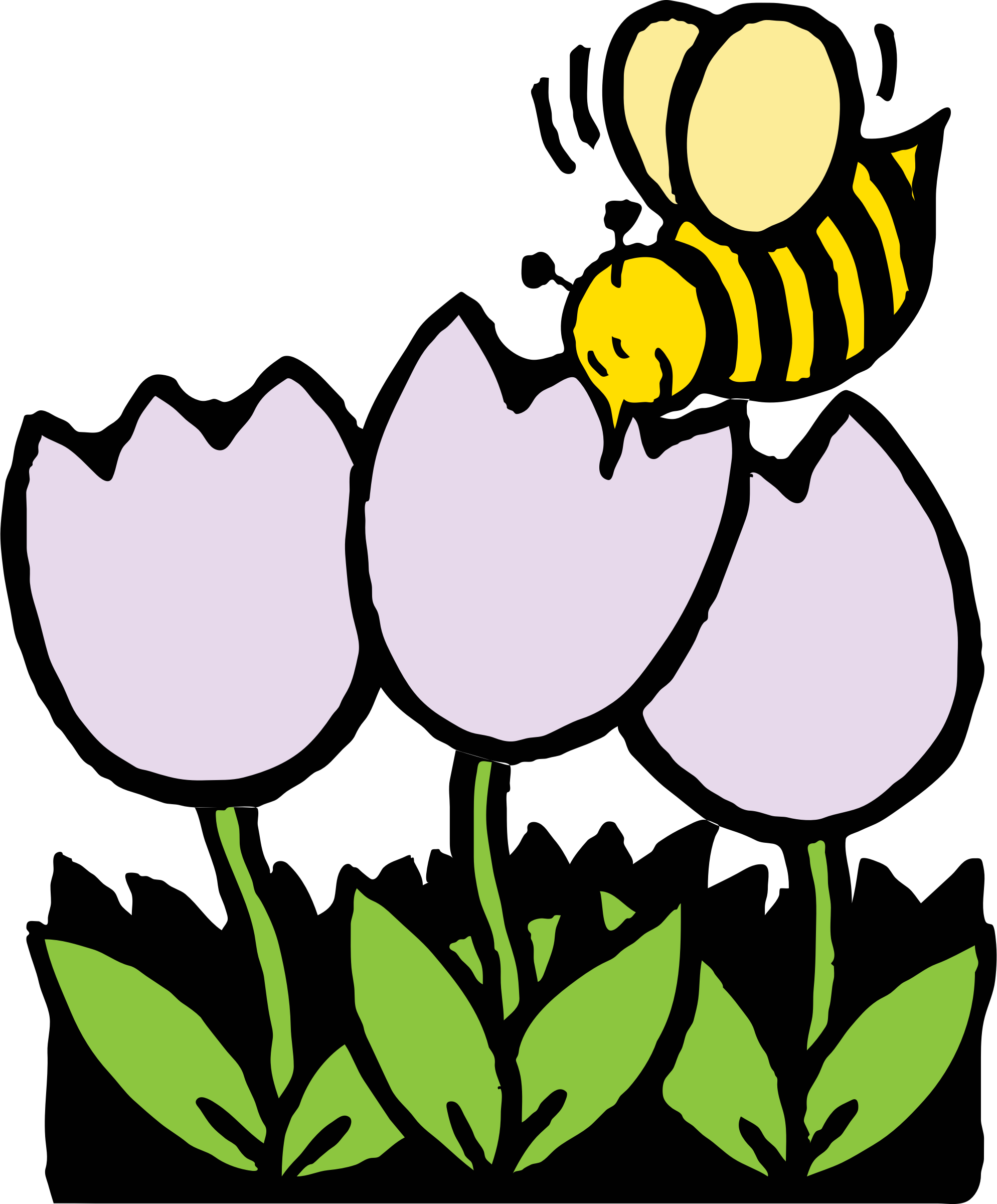 Farmer clipart bee. And flowers big image