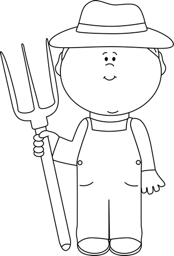 Farmer clipart png black and white. Collection of images