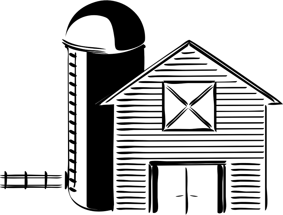 Farmer clipart png black and white. Farm fence transparent barn