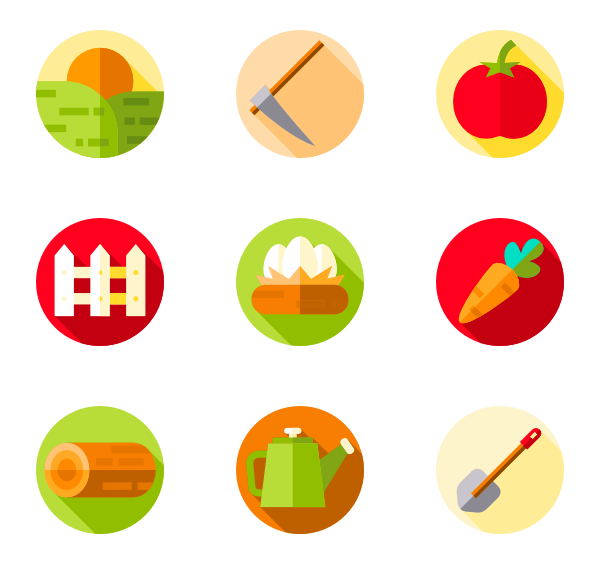 Barn clipart vector. Farm icons free in