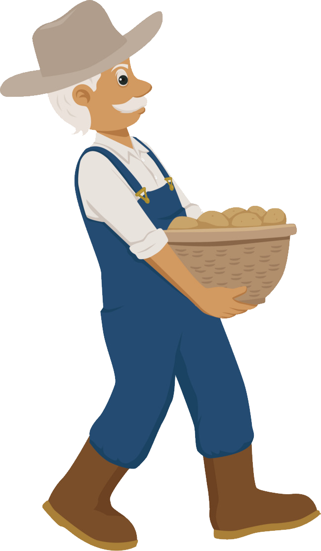 Farmer clipart producer. Farming farm worker transparent