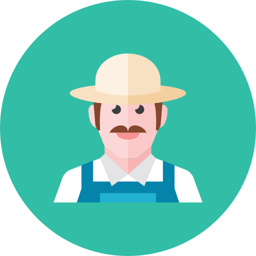 Farmer png icon. Kameleon iconset webalys file