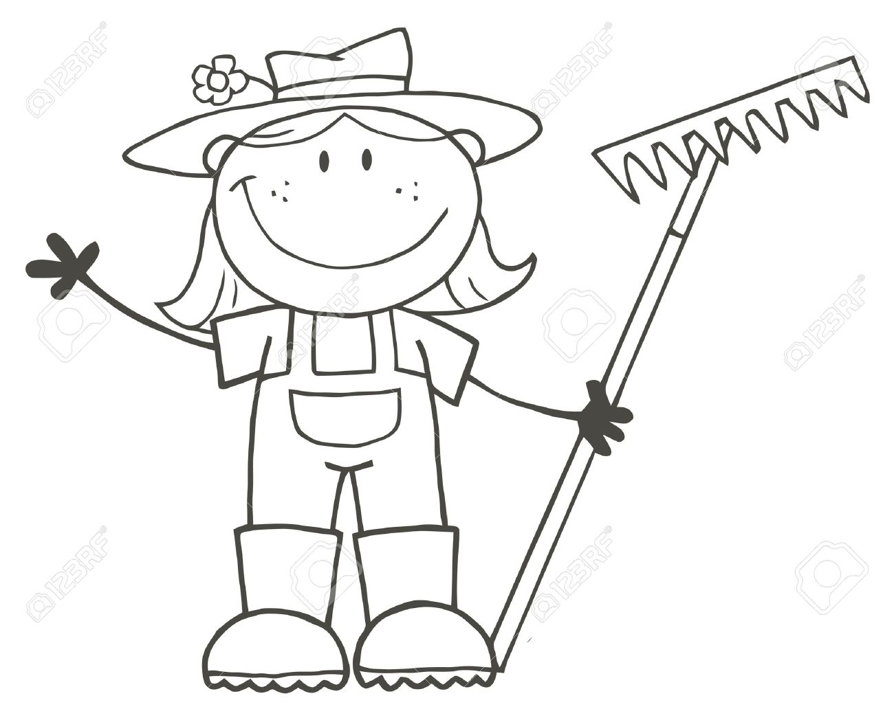 Farmers clipart drawing. Simple farm at getdrawings
