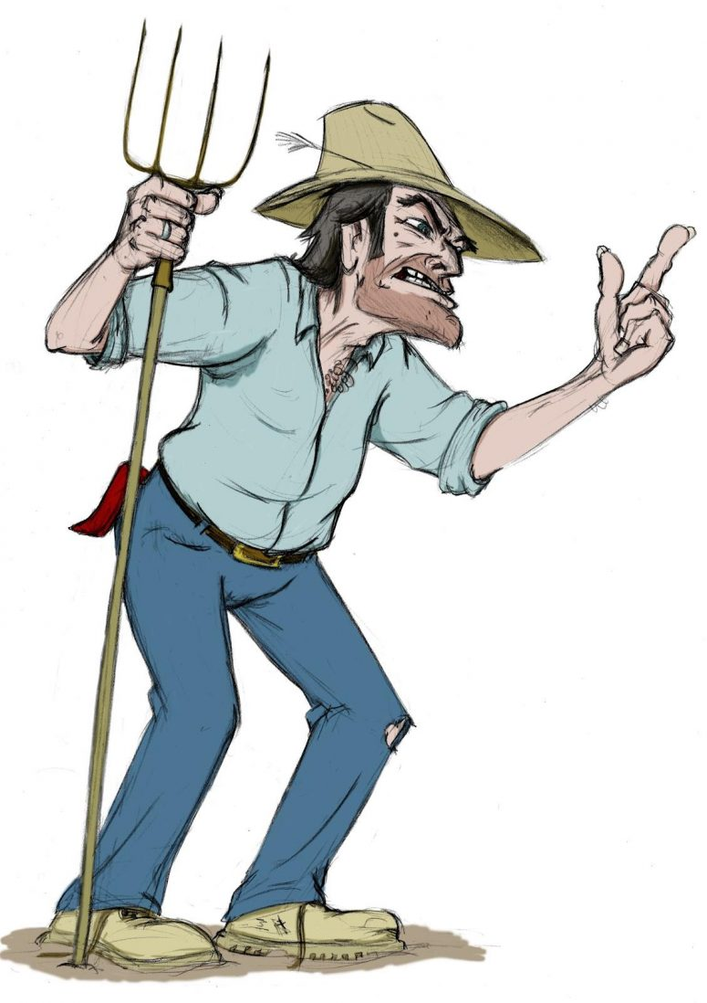 Farmers clipart medieval farm. Hd angry farmer with