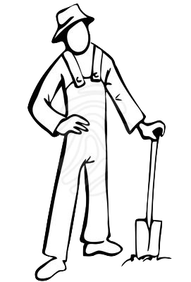 Farmers clipart outline. Garden stewards and summer