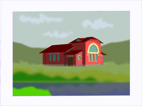 Farmhouse clipart. Old state house alamy