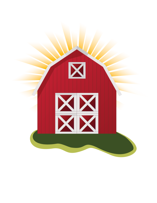 Farmhouse clipart background. Cattle shed transparent