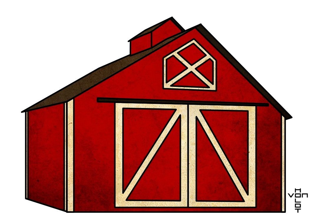 Farmhouse clipart barn door. Popular of red doors