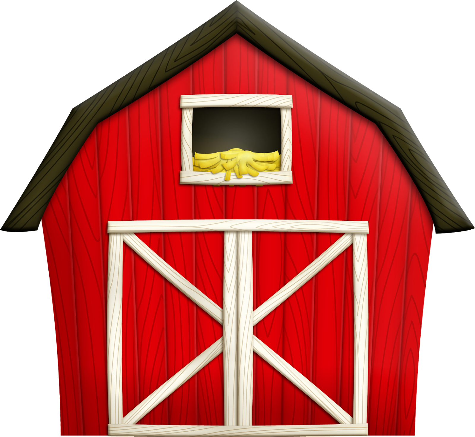 Farmhouse clipart big red barn. Digital scrapbook make yourself