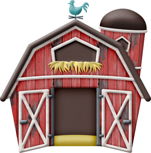 Farmhouse clipart big red barn. Oinka doodle moo farm