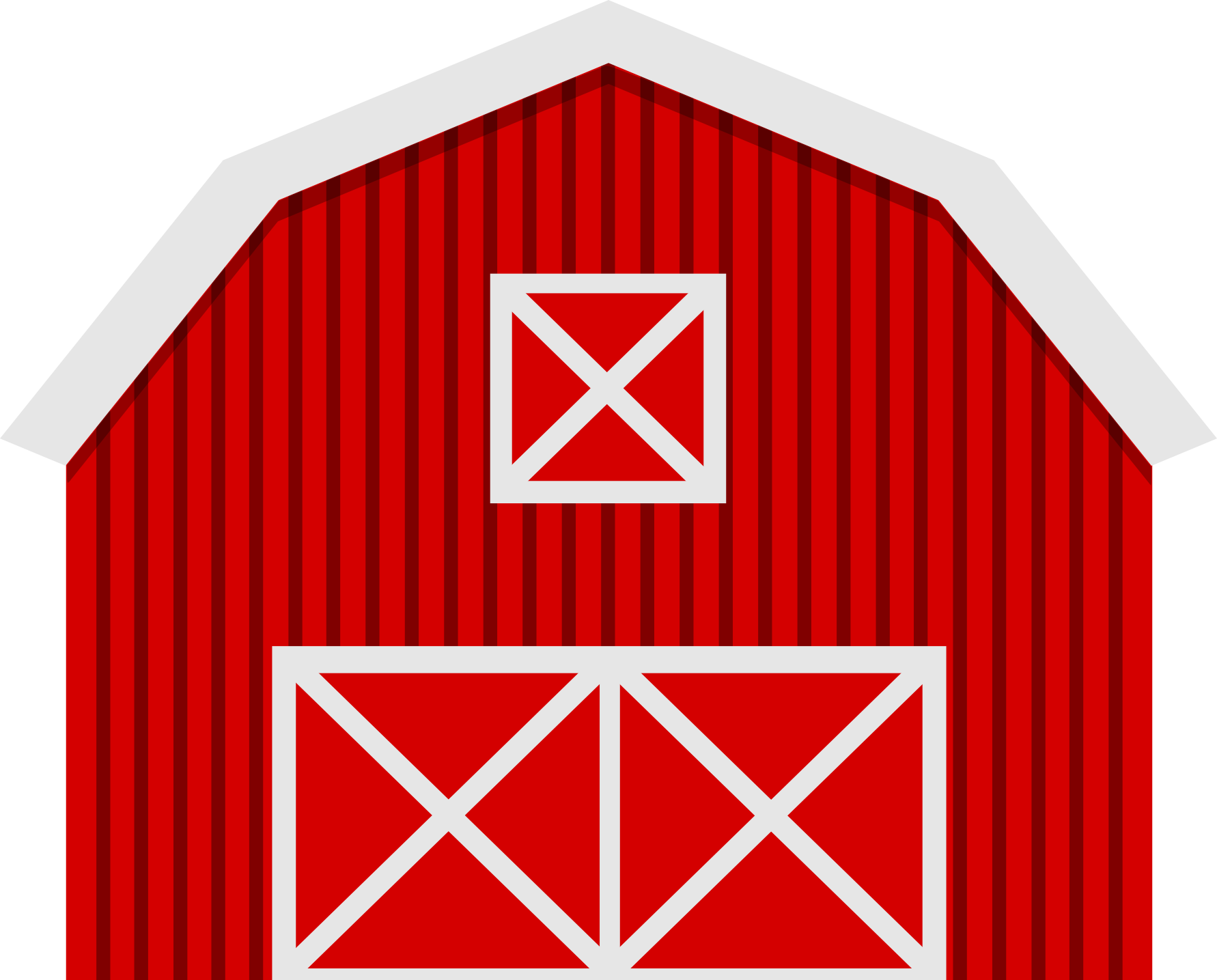 On the farm clip. Cottage clipart straw roof black and white library