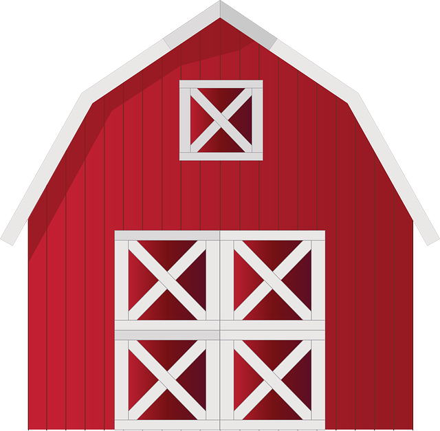 Farmhouse clipart big red barn. Free image on pixabay