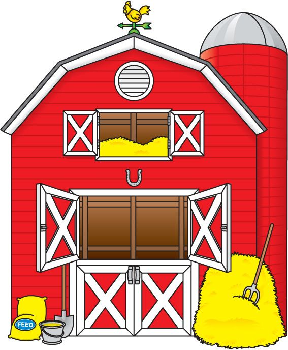 Farmhouse clipart big red barn. Best farm decor