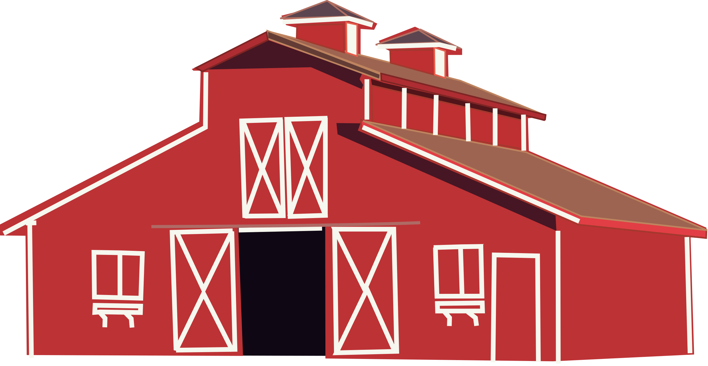 Drawing barns easy. Red barn at getdrawings